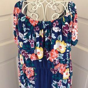 Soma Blue Floral Maxi Dress. XL. Lightly worn.